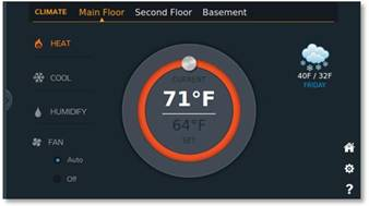 Home Automation climate screen