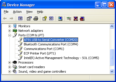 AT91 USB to Serial Converter